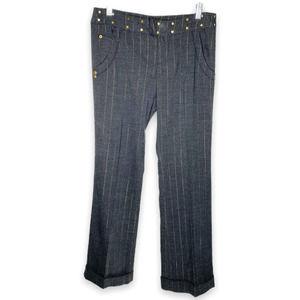 DKNY Jeans Grey Pin Striped Dress Pants Juniors Size 5